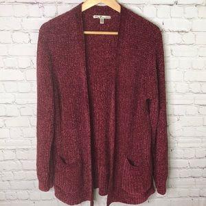 Seven7 Sweaters - Seven7 Knit Velour Cardigan